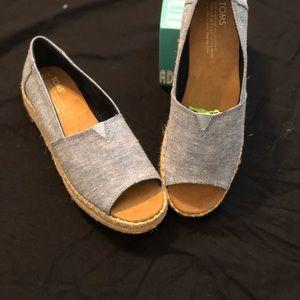 6d365ed59c19 Toms Shoes - Open Toe Platform Alpargata